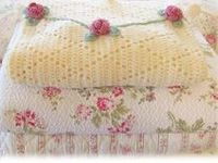 Chenille bedspreads...French linens...quilts...towels...vintage floral fabrics...colorful tablecloths...