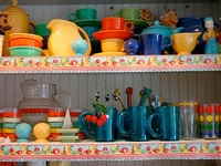 Who wouldn't love these colorful dishes?  They make me happy and put a smile on my face!
