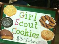 Girl Scouts - All about Cookie Sales, including charts, goal sheets, Cookie Booth info, Thank You's