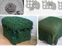 Crochet / Knit Ottoman pouf stool CHAIR