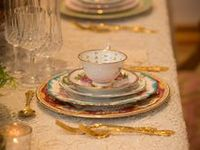 Something a little different for your guests,Imported Fine China adds depth and Character to your table. Contact Vintage English Teacup for  your Rental needs. 7703176216