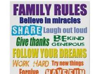 Family rules signs you can buy or ideas to create your own