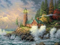 """""""There's a lighthouse on a hillside that overlooks life's sea.  When I'm tossed He sends out a light, Light that I might see. And the light that shines in darkness now Will safely lead me on If it wasn't for the lighthouse This ship would sail no more."""""""