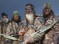 """""""A series on A&E that shows the lives of the Robertson family, a Louisiana clan who became wealthy from their family-operated duck call business.  All of the members of the Robertson family, as well as series regulars John Godwin and Justin Martin, are active members of the White's Ferry Road Church of Christ.    Friends and relatives estimate that Phil Robertson has baptized more than 300 people in the river near his home, the Ouachita River."""""""