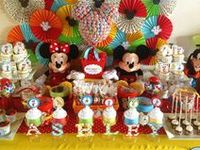 Mickey Mouse party ideas --  Mickey Mouse cakes, decorations, party foods and favors. See more party ideas at CatchMyParty.com.