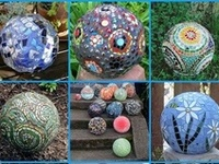 CRAFTS: BOWLING BOWLS / OUTDOOR DECORATIVE GLASS