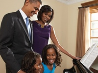 The Obama's - President Barack, First Lady Michelle, First Daughters Malia & Sasha & First Pets Bo & Sunny...