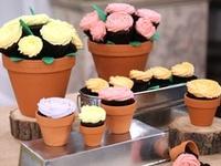 """""""Flower Pot Cake""""/ Cupcake Recipes"""