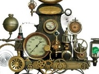 I think steam punk appeals to me because I really like anything collage.  What a fun way to use old, vintage stuff.