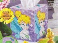 Plastic Canvas tissue box covers
