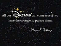 """""""Around here, however, we don't look backwards for very long. We keep moving forward, opening up new doors and doing new things, because we're curious... and curiosity keeps leading us down new paths."""" - Walt Disney"""