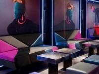 hip bars, restaurants, hotels...