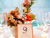 Ideas and inspiration for using the color coral in your wedding color scheme. {www.weddingcolors.net}