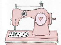 Sewing machines illustrations