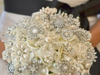 My daughter tells me she will have a destination wedding.  I look forward to creating a brooch bouquet for her using ideas gathered here.