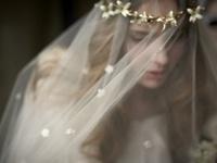 bride fascinator veil & hats