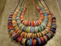 Felted jewelry.