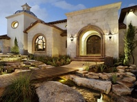 Homes designed with Spanish Colonial, Mission, and Hacienda architecture. Also, home styles of the  American Southwest, including Pueblo, Territorial, and others.