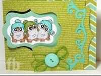 Cards using Pop It Ups Pivot Card dies designed by Karen Burniston for Elizabeth Craft Designs.