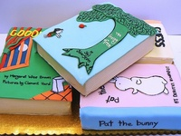 Cakes, cookies, and more!! All of the edibles shown here are based on books.