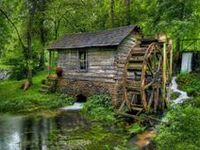 Old Mill and Waterwheels