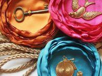 Headbands, Barretts, Pins, Brooches, Fabric Flowers
