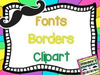 fonts, borders and clipart