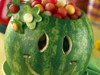 Fun Carved Watermelons, Fruit and Veggies