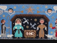 I collect nativities and have many of them. Here you'll find pictures of the ones I own, the ones I have to stitch, and the ones I'd like to get. Plus some of my other Holy Family related art.