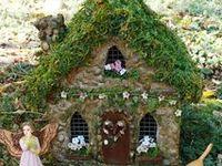 Fairies and their homes.  For those mere mortals like myself, do not be discouraged by some of the very elaborate fairy homes I pin.  I think that some my be photo-shopped a wee bit, and I pin them just for ideas and the fun of fantasy.