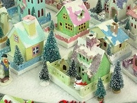This is a board for Paper houses and villages to make on your own.  Glitter houses, Putz, etc.  Have fun and create a mini paper world!! (some pictures of Gingerbread houses also with great ideas for the paper houses)