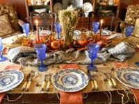 Beautiful fall tablescapes