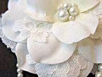 FLORES em tecido,papel e feltro