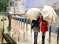 Parasols and parapluies (umbrellas) in all colors, shapes, and patterns - as seen in art, design and daily life all around the world.