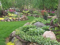 """Rock, Concrete, Brick, Wood, Slopes, Hills, retaining walls, paths, landscaping plans & recommendations from professional landscapers. For more ideas, please take a look at some of my other """"Gardening"""" boards, my """"DIY Outdoors"""" board, and my """"Hosta"""", """"Heuchera"""", and """"Edible Garden Tips and Tricks"""" boards. Thanks for stopping by."""