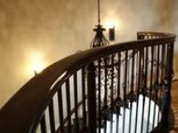 Decorative Wrought Iron Stairway Balusters and Newels