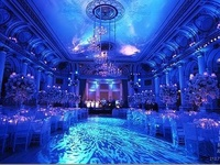 #Blue #uplighting examples for your #event or #wedding #reception ! #DIY #Inspiration #Ideas