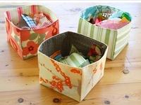 Sew Fabric Bins and Baskets