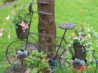 Neat ideas for outside the home. Gardening, etc.
