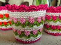 Crochet covers, cozies...