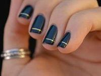 Azul. Belleza Uñas