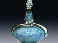 Azul. Arte Frascos de Perfume