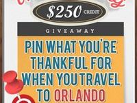 HOLIDAY GRAND PRIZE GIVEAWAY: Pin what you are thankful for when you travel to Orlando to be entered to win $250 credit with Undercover Tourist! Learn how to enter here: http://blog.undercovertourist.com/2013/11/win-250-undercover-tourist-thanksgiving-pinterest-giveaway/