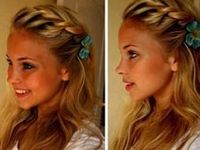 You must have seen braided hairstyles on TV when celebs are showing their flattering outfit on the Red Carpets. Stylists are very interested in adding their own flavor to this classic braided hairstyle because it is a good choice for not just evening parties but also other formal occasions. I am growing my hair out & was excited to find all of this help to learn how to braid my own hair.