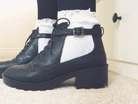 Pumps, heels, boots, oxfords, flats, sandals, Vanz, converse, sneakers, flip-flops, sandals, Uggs, Doc Martens, ect.