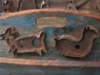 Antique Cookie Cutters - Molds - Stamps