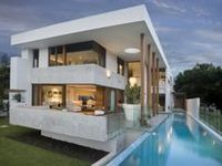 All kind of interesting architecture of modern houses can be found here.