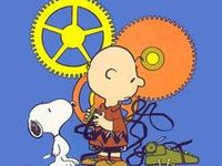 Cartoons of Charlie Brown, Snoopy, Linus, Sally, Lucy, Peppermint Patty and the rest of the Peanuts Gang. By Charles Schulz