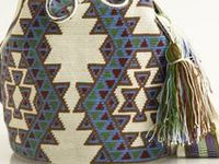 Wayúu Mochila bags are made by Wayúu Tribeswoman,who live in La Guajire Peninsula in northem Colombia and northwest Venezuela. Each mochila is handmade by one women and with her signature.Each bag is labor intensive to make and can take over 40 hours to make.