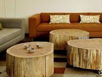 La madera en su estado más natural, con una mínima transformación puedes convertir un tronco en todo tipo de objetos decorativos.